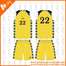 Print or embroidery type sublimation pattern basketball kit for boys