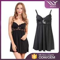 Wholesale paypal accept elegant mature women sexy night wear