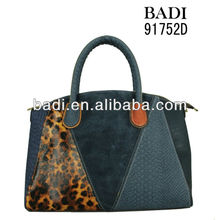 New arrival,fashionable croco splicing handbag,synthetic leather hot fall and winter casual shoulder bag