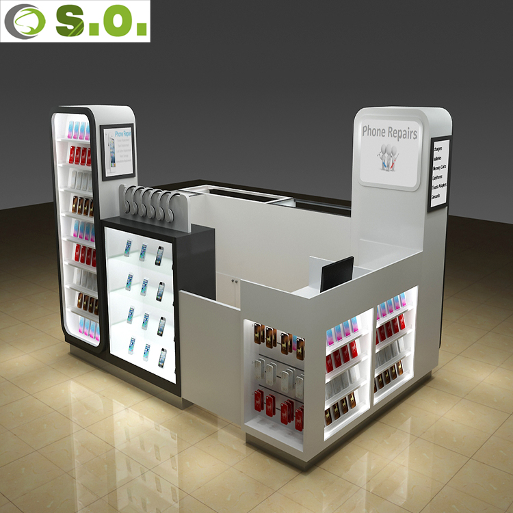 Guangzhou Manufacturer Professional Custom Mall Kiosk For Cell Phone Showcase Display