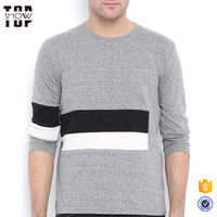 China factory long sleeves front stripes custom jersey tshirt