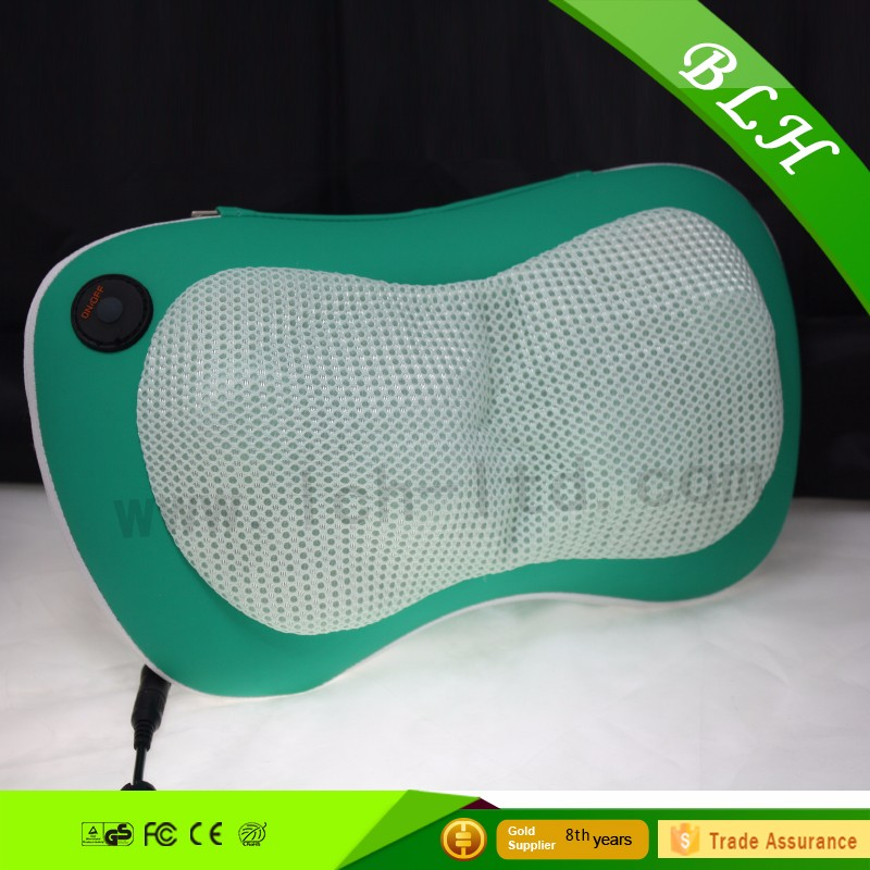 2016 exercise vibrating mini heating massage belt logo imprint auto shiatsu kneading neck massage pillow for health care