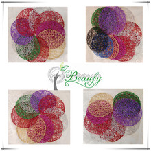 Qingdao Wholesale Colorful Dinner Table Paper Woven Round Placemats