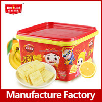 Wholesale 600g barrel packing fruit 4 tastes assorted biscuits