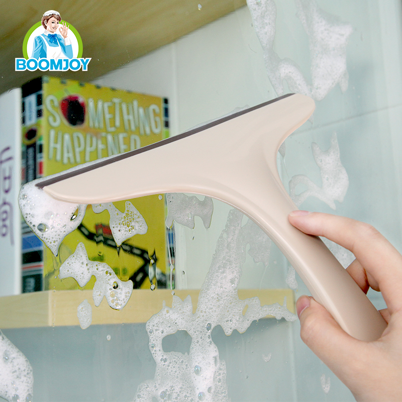 PLASTIC GLASS WINDOW WIPER SQUEEGEE CLEANER WITH RUBBER STRIP