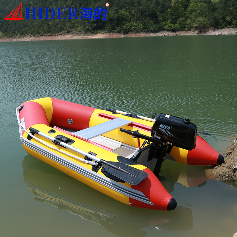 Cheap military Inflatable Rowing Boat with Electric Motor for sale