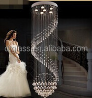 High Quality Modern Spiral Down Crystal glass chandelier light for Wedding decoration