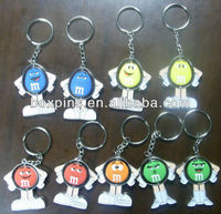 Metal Key Ring Cartoon Characters M and M Candy M&M
