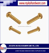 factory direct wholesale high quality stainless steel & brass metric & ASME/ANSI B18.6.2 slotted round head cap screws