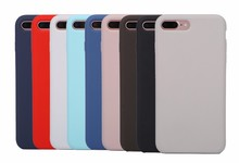 Factory price different colors available new design silicone cell phone cases for iPhone 7