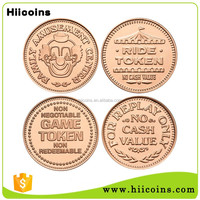Manufacturer Wholesale Custom Metal Game Token Copy Coin