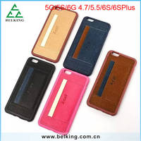 Leather Skin Sticker Mobile Phone Outer Case For iPhone 6S/6S Plus Card Slot PU Cases