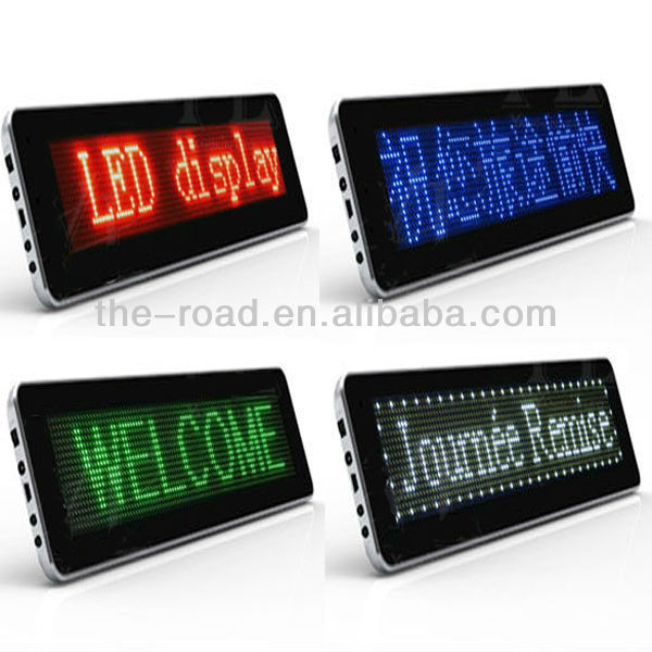 Alibaba Hot Products Portable LED Car Window Message Sign