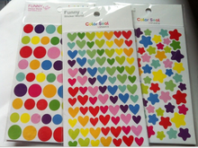 Heart Round Star Shape Seal Sticker Printed Colorful Paper Sticker Welcome Customize Stock 9.5*15mm 6pcs/set