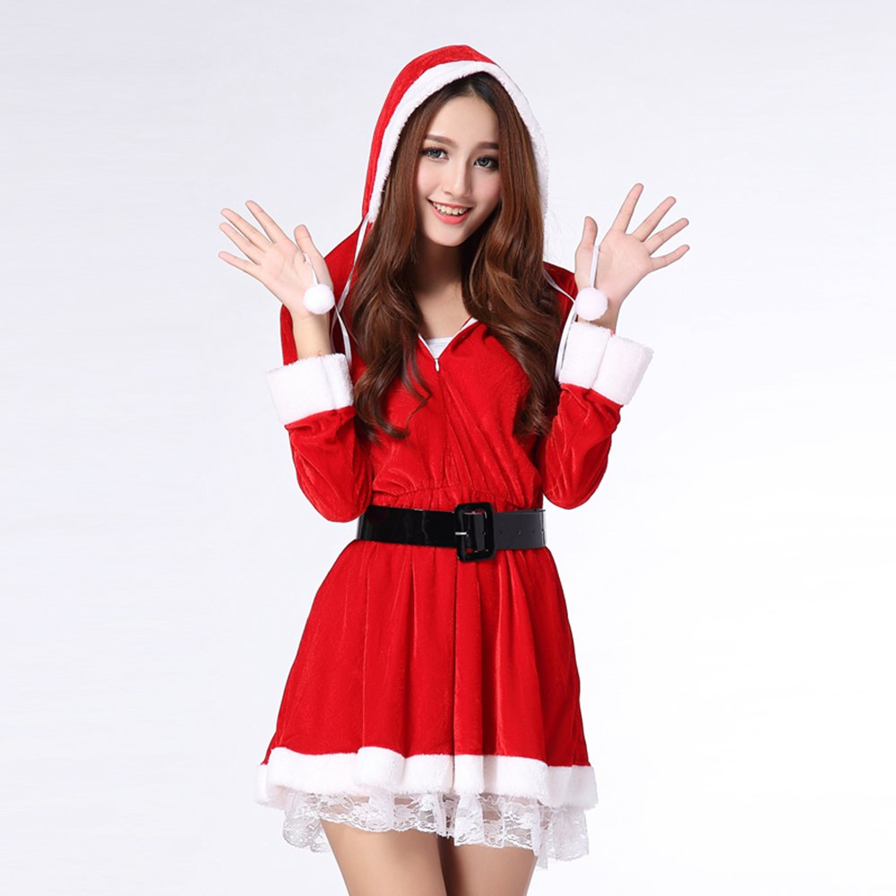 Wholesale price santa claus costume christmas dress for women