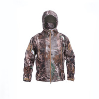 100% polyester waterproof softshell jacket real tree camo jacket