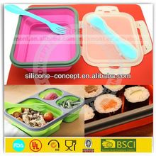 Insulated high quality silicone airline fast food container