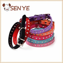 Hot 7-color crystal diamond dog collar pet collar cashmere cattle dog chain dog collar chain double