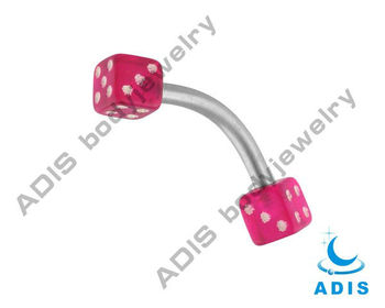 316L Stainless Steel piercing Eyebrow Jewelry with lovely dices