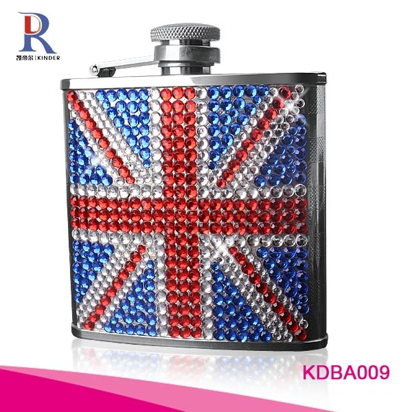 Rhinestone bling bling Novelty Stainless Steel Hip Flask
