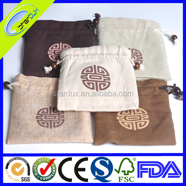 Promotional Custom Cotton Jewelry Bags With Logo