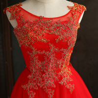 JS 24 Red Toast Suit Clothing Short Bridal Sexy Lace Wedding Night Dress Patterns 010