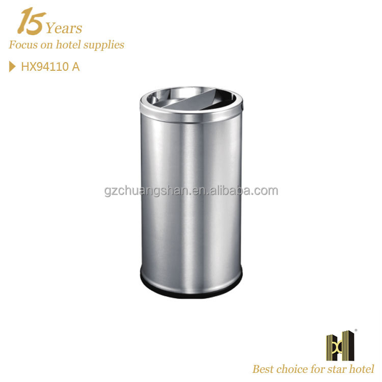 stainless steel recycle bin with ahstray