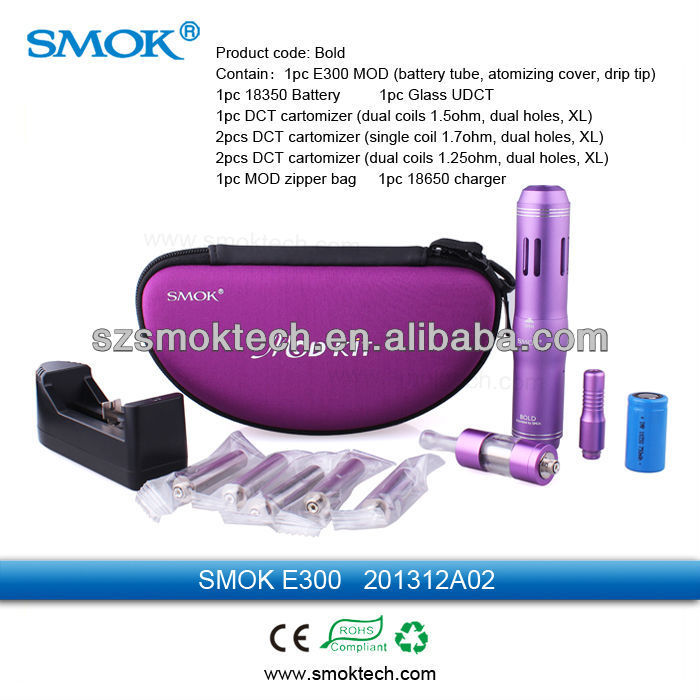 Hot selling smok lava tube electronic cigarette starter kit (DCT clearomizer +machanical mod)