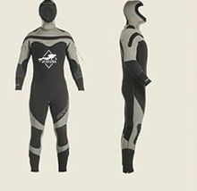 7mm Semi-Dry Wetsuit Mens Hooded Scuba Diving Dive Gear