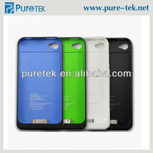 External Battery Case Skin 1900mAh backup battery for iPhone 4, For iPhone 4 Backup Battery Case Fully Protection
