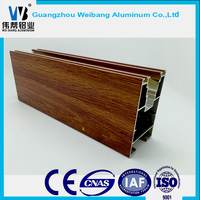 ALL Kinds of Wooden Grain Surface Aluminum extruded profiles 6063-T5 alloy