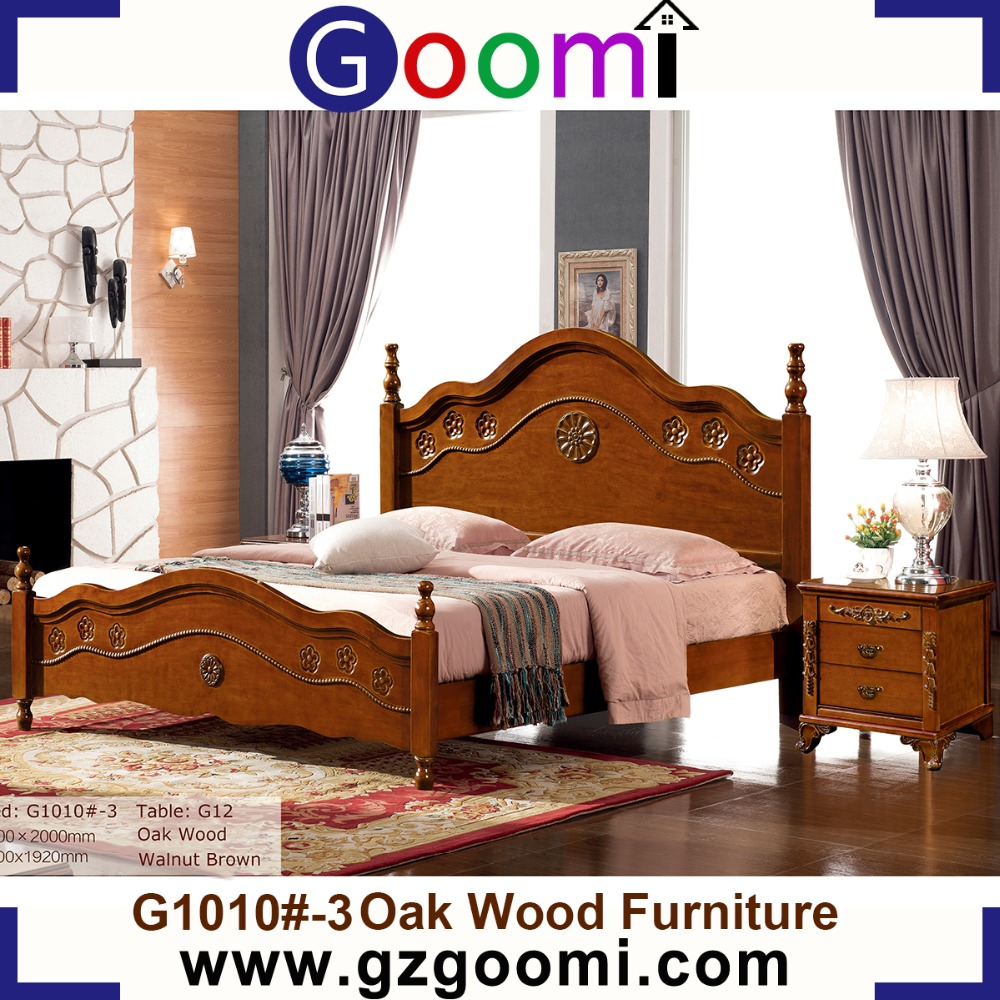 GanZhou Goomi Bedroom Furniture American Style G1010# Bed wood furniture made in malaysia