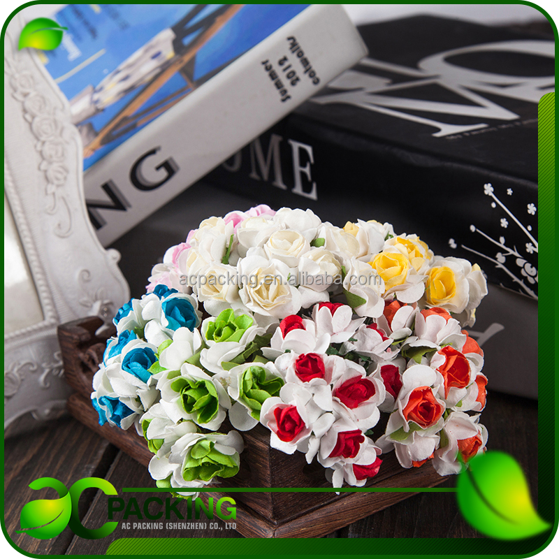 China factory paper craft decoration mini paper craft rose flower