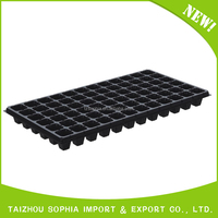 72 cells plastic seed raising tray for greenhouse