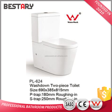 Gravity flushing white color sanitary ware for bathroom toilet commode