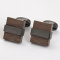 Wholesale classical wood cufflinks clasps fashion men's custom wooden cufflinks for shirts