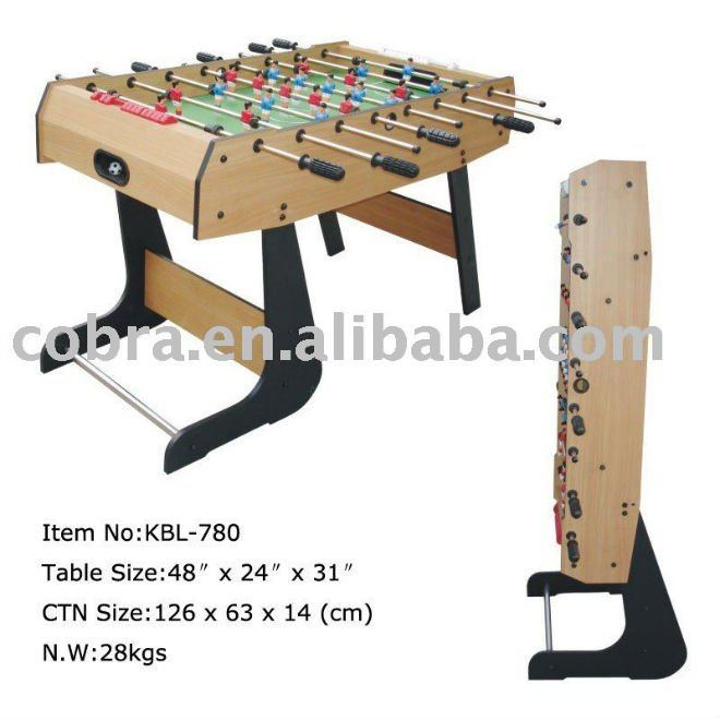 Professional MDF flexible and folding soccer table kbl-780