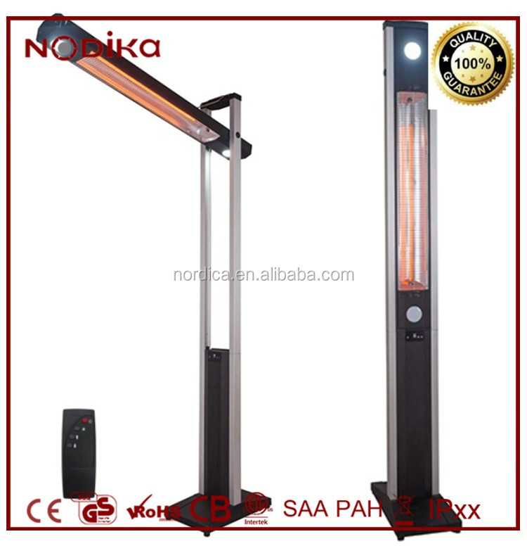 Free Standing Two Ways Patio Heater Infrared Electric Carbon Fiber Heater  With Led Light   Buy Electric Carbon Fiber Heater,Patio Heater Infrared, Infrared ...
