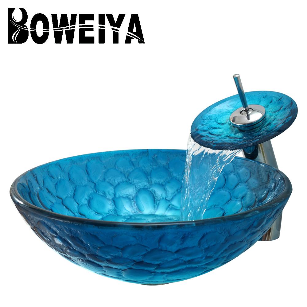 Wholesale designer glass wash basin - Online Buy Best designer glass ...