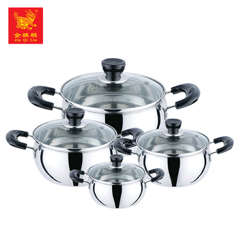 China wholesale kitchen stainless steel casserole cooking pot set for 2017