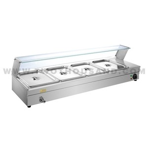 TT-WE1244 Commercial Kitchen 4 Pan Bain Marie Food Warmer Counter