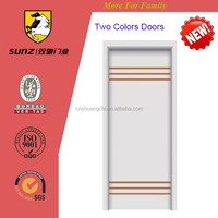 Latest simple design two colors wooden door for home and hotel