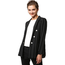 Double breasted Striped patterned suit lady jacket for office lady Women Tuxedo Suits