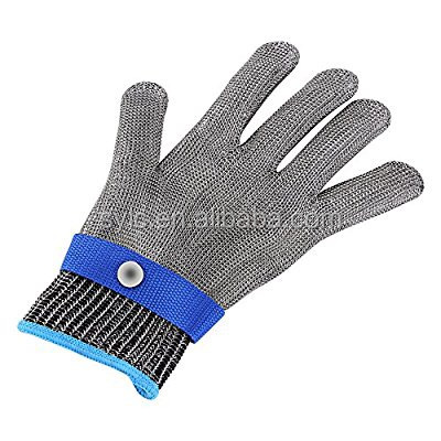 LC safety Stainless steel Wire mesh cut resistant working glove metal glove security glove
