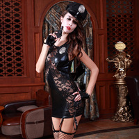 Whole SET Woman Sex Hot Police Costume Temptation Sexy Girl Night Club Wear Uniform