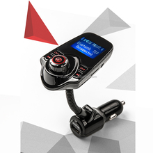 2017 Newest Car Bluetooth V3.0 EDR Handsfree FM Transmitter USB 2.0 Car Kit MP3 Player Digital Display Built-in Microphone