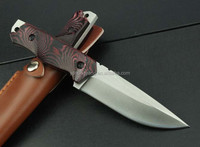 G10 handle tiger stripes hunting Knife/ fixed blade knife