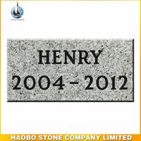 Light Gray Pet Memorials Granite Marker - 12 x 6 x 2