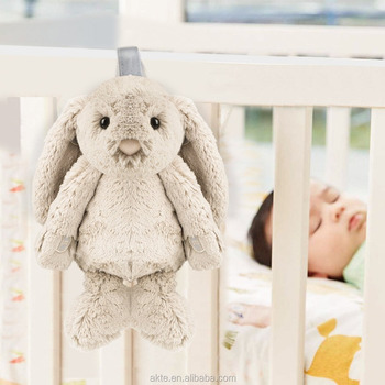 Baby Sound Spa Sleeping Rabbit Stuffed Animal Plush Toy With Natural Sounds