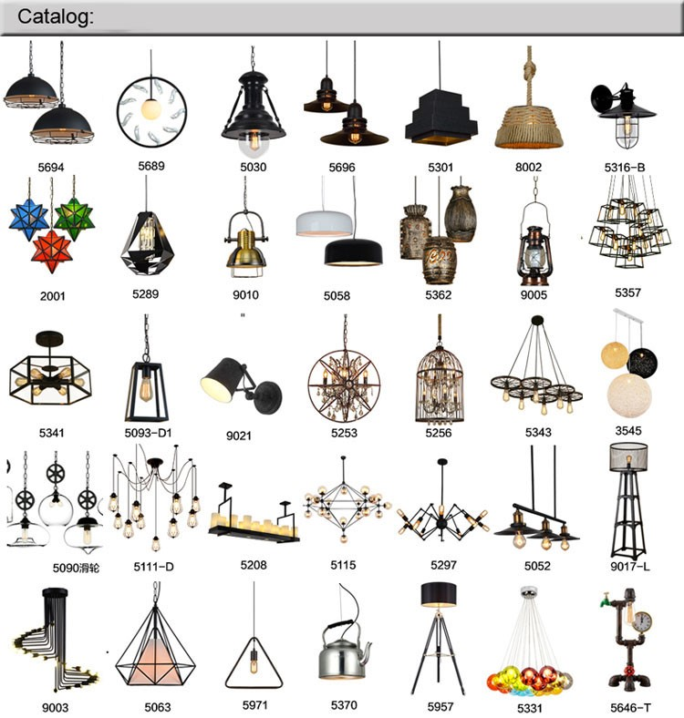 American vintage Style Iron Dining Room LoftwitE27 Edison Bulb Industrial Retro vintage pendant lighting